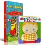 英文原版 I am a Bunny / Where Is Baby's Belly Button 2册套 幼儿童英语启