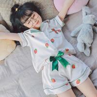 儿童睡衣女夏季纯棉套装薄款短袖宝宝小女孩公主女童家居服夏天