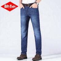 Lee Cooper男士牛仔裤直筒裤宽松夏季商务潮流长裤子舒适经典百搭男款牛仔裤