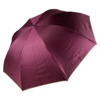 [当当自营]天堂伞 33330 红色 简约英伦色织双细条涂黑胶三折商务晴雨伞太阳伞