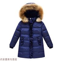 冬季毛领女童羽绒儿童中大童加厚棉衣外套冬装棉袄秋冬新款