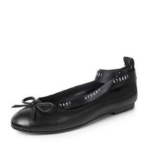 Teenmix/天美意2017秋羊皮优雅小方跟甜美绑带芭蕾舞单鞋女鞋17C02CQ7