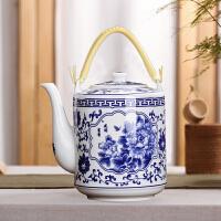 青花瓷提梁壶 茶壶陶瓷器冷凉水壶陶瓷