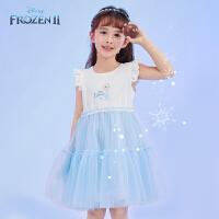 迪士尼女童网纱裙子儿童夏季连衣裙宝宝夏童装公主裙2021新款洋气