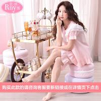 柔纳雅纯棉睡衣女士夏季薄短袖短裤韩版甜美可爱公主学生家居服女