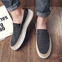 DAZED CONFUSED一脚蹬男鞋夏季潮鞋2017新款乐福鞋子男韩版潮流帆布鞋男懒人板