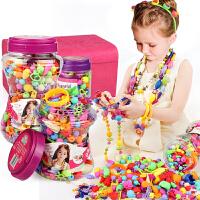 儿童手工串珠玩具diy手工女孩穿珠子手链项链圣诞节智力玩具礼物