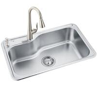 MOEN/摩恩 304不锈钢水槽单槽厨房水槽套餐加厚洗碗水洗菜盆 22027