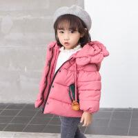 宝宝棉衣1-5岁婴儿棉袄女童加厚羽绒棉儿童冬装外套2018新款