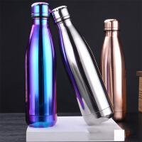 汉馨堂 保温杯 炫彩金属电镀系列保温杯运动水壶镜面可乐瓶保温杯