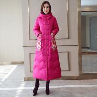中国风棉衣女韩版冬季中长款加厚民族风羽绒过膝棉袄