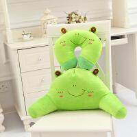 护腰枕汽车靠枕颈枕u型枕 椅子护腰靠垫 办公室两件套