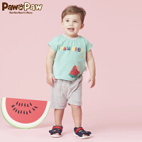 【3件3折 到手价:137】Pawinpaw卡通小熊童装夏款男宝宝上下套装婴幼儿休闲两件套