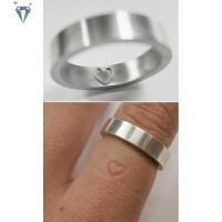 999纯银表白戒指 足银个性手工隐藏表达爱意爱在里面情侣戒指
