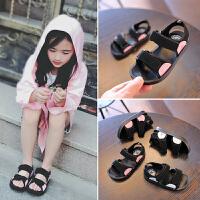 夏季新款儿童沙滩鞋透气男童休闲鞋子时尚女童露趾凉鞋潮