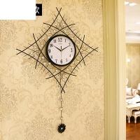 现代钟表挂钟客厅石英钟静音时尚个性简约艺术大挂表创意时钟 有外罩 高102*宽70cm 送蒲公英墙贴 26英寸