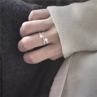 小L同学定制 戒指女925纯银饰品简约气质指环女戒520礼物送女友 925纯银