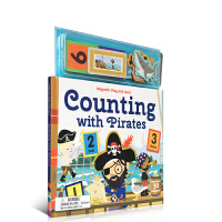 英文原版 Magnetic Counting with Pirates 数字 启蒙 海盗磁贴书