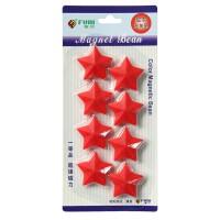 大号磁扣 儿童画板 白板磁吸吸铁石磁扣 卡纸替换磁片 红色 五角星 8个/卡 CT-6711