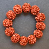 尼泊尔大金刚菩提子手串男士5五6六瓣满肉红皮原籽佛珠手链