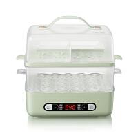小熊(Bear)煮蛋器 电蒸锅早餐机蒸蛋器煮鸡蛋早餐锅可预约蒸鸡蛋早餐神器双层容量 浅绿色 ZDQ-B06E1