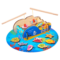 儿童钓鱼玩具套装磁性1-2-3-4周岁宝宝木质早教