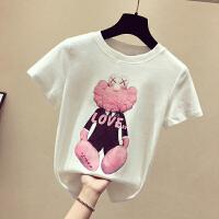Lee Cooper装新款宽松女装纯色半袖印花潮流纯棉女式t恤