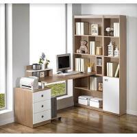 包邮电脑桌台式家用简约电脑桌转角书柜书桌书架组合办公桌写字台