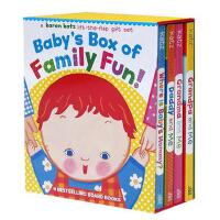 【现货】英文原版Baby's Box of Family Fun: A 4-Book Lift-The-Flap Gi