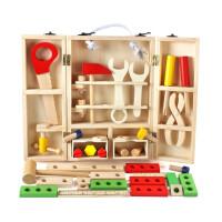 仿真儿童工具箱过家家玩具套装男孩维修木制修理木质
