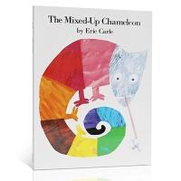 英文原版进口绘本 The Mixed-Up Chameleon 拼拼凑凑的变色龙 Eric Carle 艾瑞・卡尔 送