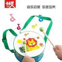 卡木灵F431幼儿园双面手拍鼓打击乐器婴儿童卡通木制音乐玩具宝宝