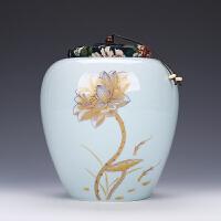 普洱茶大码茶罐茶叶罐陶瓷大号一斤装密封罐小青柑包装盒定制