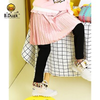 【4折价:131.6】B.duck小黄鸭童装女童打底裤冬季新款加棉加绒加厚外穿长裤 假两件裙裤BF5063901