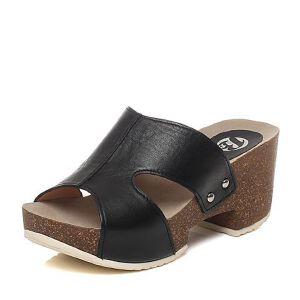 BATA/拔佳夏季专柜同款小牛皮女拖鞋AL103BT6