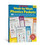 英文原版 Week-by-Week Phonics Packets Grades K-3少儿英语自然拼读练习册 平装