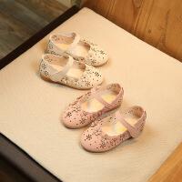 女童皮鞋2018夏季新款韩版女童公主鞋镂空宝宝鞋儿童鞋