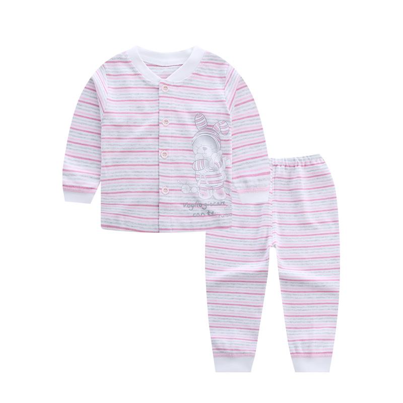 婴儿内衣套装新生儿衣服开衫男宝宝女童条纹内衣