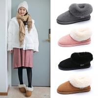 棉拖鞋女冬室内包跟厚底防滑居家情侣保暖毛拖鞋男月子鞋冬季外穿