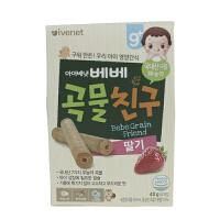 ivenet艾唯倪原装进口婴幼儿辅食糙米饼 草莓味