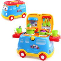 美味快餐车儿童过家家厨房做饭玩具多功能滑行车小孩玩具