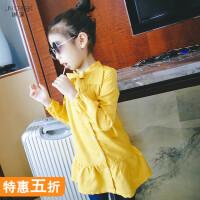 2018秋冬新款中大童装韩版修身长袖儿童连衣裙宝宝裙子女童公主裙