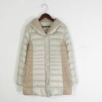 M06042日单冬季新款韩版单排按扣显瘦好搭配女中长两面穿羽绒服