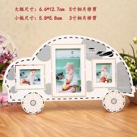 5寸3寸大6寸儿童宝宝相框摆台 创意客厅简易像框架 组合画框 小汽车5寸+3寸+3寸 修剪