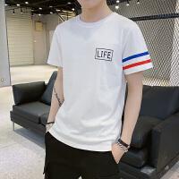 219新款潮牌短袖男T恤时尚潮流欧美街头bf风韩版潮学生宽松打底衫