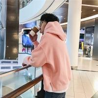 卫衣男士连帽春季韩版情侣装粉色学生潮流套头衣服男宽松运动外套