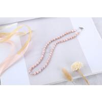 20180824003249433天然淡水珍珠项链强光彩色米形淡水珍珠项链女款送妈妈款礼物