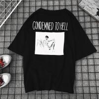 格子短袖T恤男女情侣装2018新款小衫打底夏季港味潮牌宽松上衣女