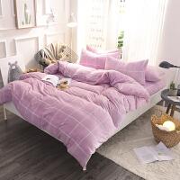 珊瑚绒四件套加厚保暖冬季法莱绒床品1.8m床上法兰绒床笠床单被套