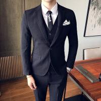 西服套装男士三件套青年韩版修身西装伴郎新郎结婚礼服英伦风正装